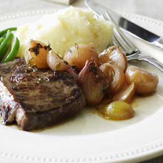 Porterhouse Steak with Caramelized Shallots
