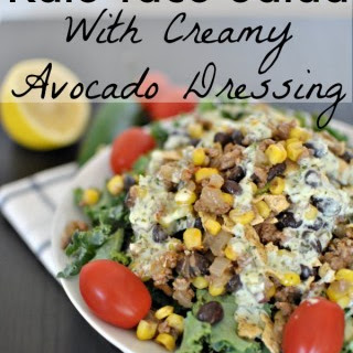 Kale Taco Salad with Creamy Cilantro Dressing