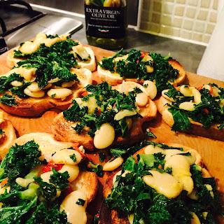 Bean and Kale Bruschetta Recipe