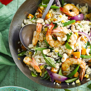 Curried Shrimp and Squash Fried Rice.