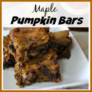 Maple Pumpkin Bars
