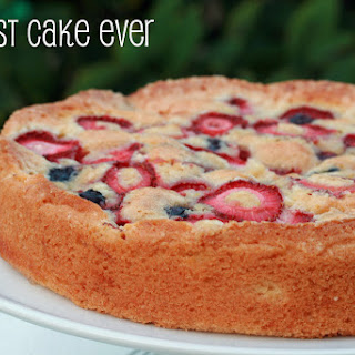 """Easiest Cake Ever"" with Strawberries & Blueberries"
