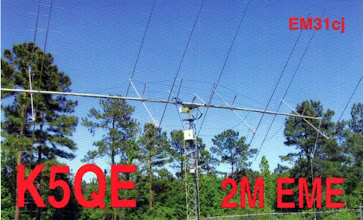 Photo: Thanks to K5QE for my 4th moon bounce QSO - WB9OTX