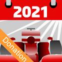 Racing Calendar 2021 - Donation icon