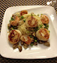 Seared Scallops & Shrimp Over Angel Hair Pasta