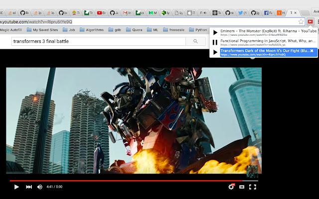 Youtube playback control
