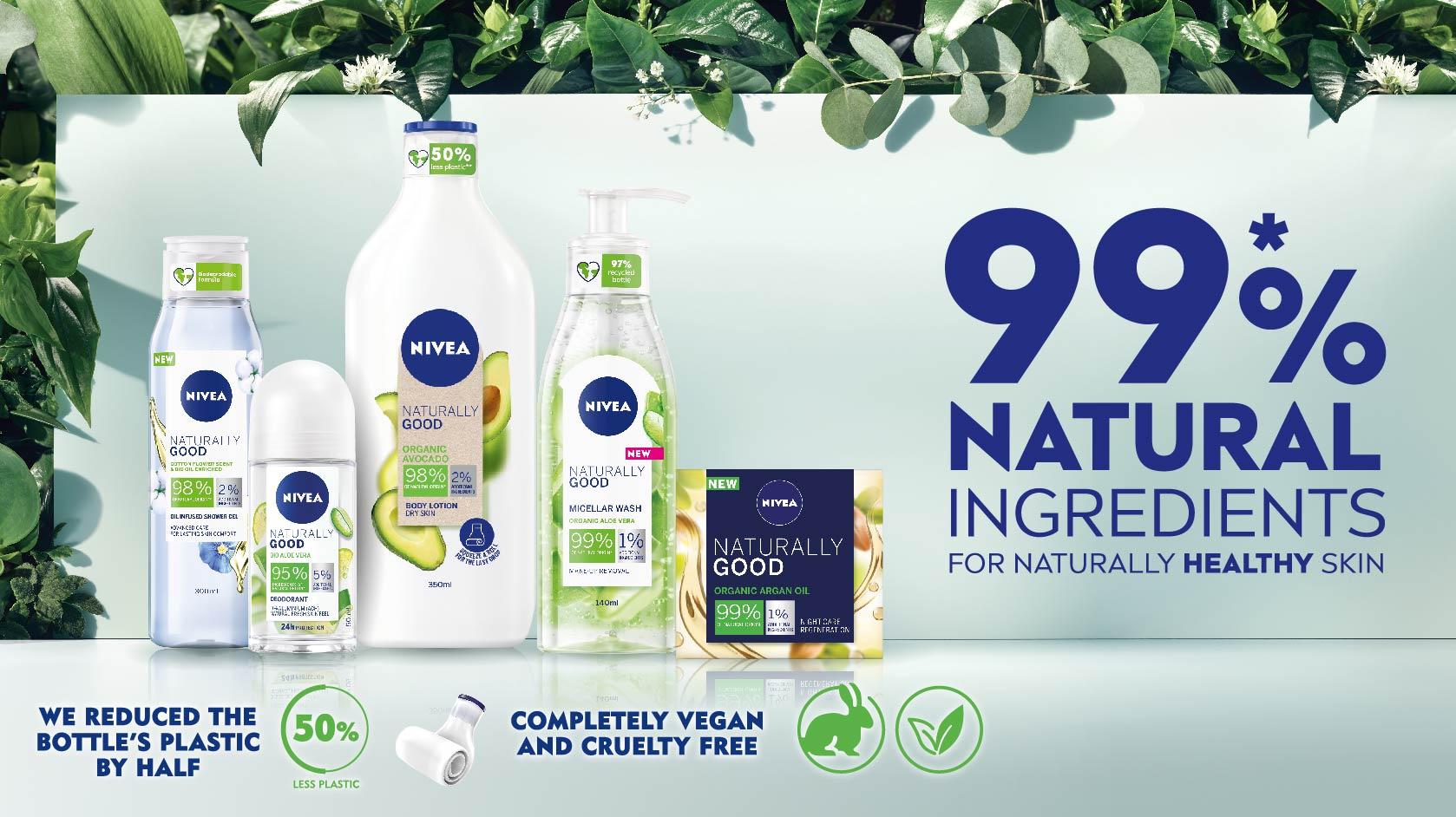 Hampir 99% bahan Naturally Good berasaskan bahan semulajadi.