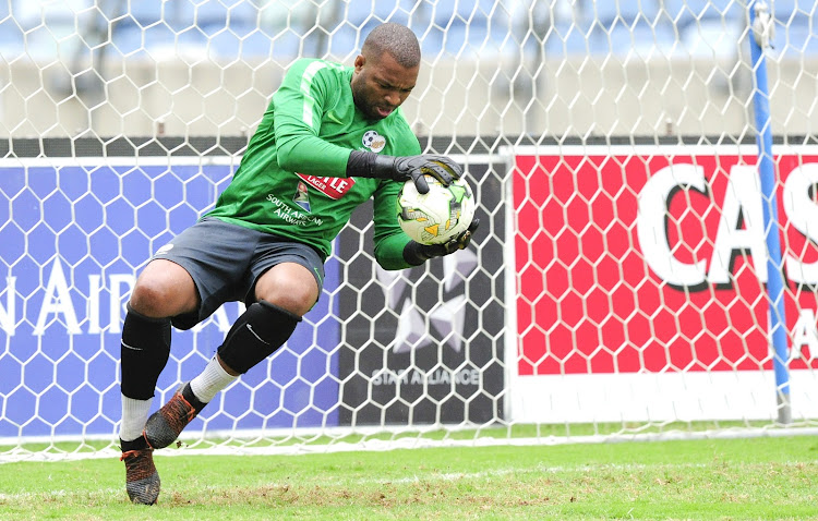Bafana Bafana and Kaizer Chiefs goalkeeper and captain Itumeleng Khune during a training session at Moses Mabhida Stadium in Durban on September 6 2018.