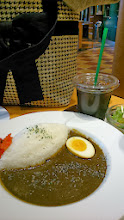 Photo: Black sesame curry at a restaurant (http://tabelog.com/tokyo/A1315/A131504/13103802/) in Haneda Airport (original menu was with slices of pork cutlet that I asked them to remove). Must be inspiring dish for Indian homemakers too!? Personally, I wanted to feel stronger flavour of sesame which was somewhat killed by spices. 1st December updated - http://jp.asksiddhi.in/daily_detail.php?id=379