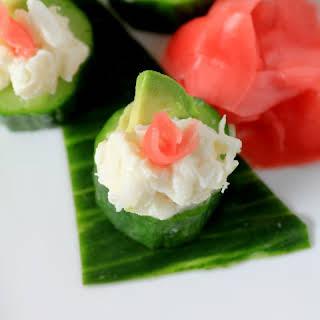 Crab Cucumber Appetizer Cups.