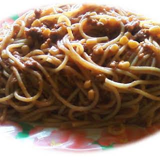 Spaghetti and Beef.