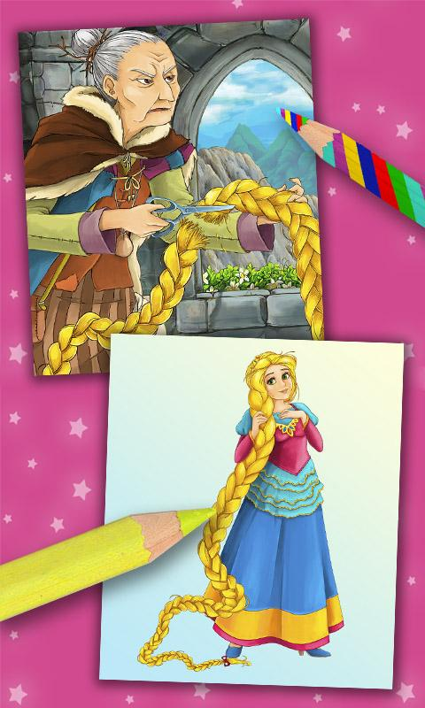 Rapunzel coloring pages- screenshot