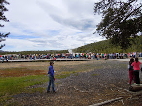 Photo: Waiting for Old Faithful around lunchtime