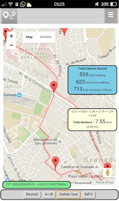 Distance Calorie Android Apps On Google Play