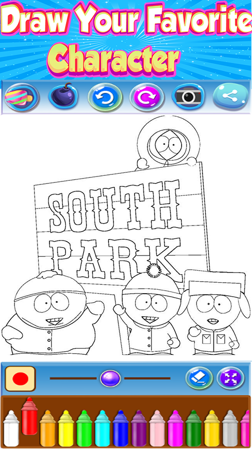 🇺🇸 Coloring book for SouthPark - Android Apps on Google Play