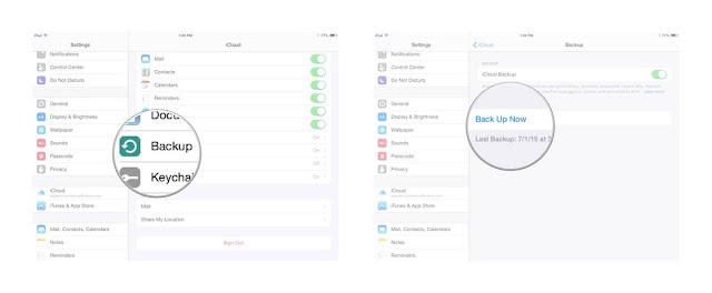 كيفية انشاء نسخة احتياطية في icloud drive واستعادتها