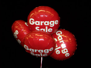 Photo: Garage Sale (Tomorrow) (Thanks to Sherry's Nose For The Pretty Balloons)