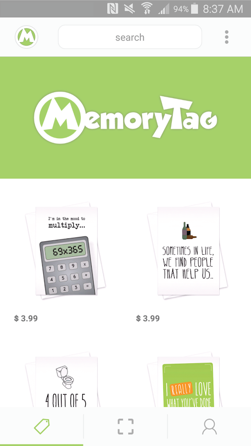 MemoryTag Greeting Cards- screenshot