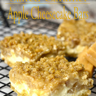 Salted Caramel Cheesecake Apple Pie Bars