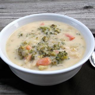 Potato Broccoli Cheese Soup.