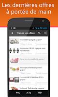 Screenshot of Promos & Réductions Belgique