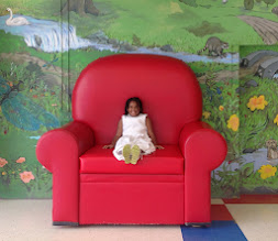Photo: in the big red chair