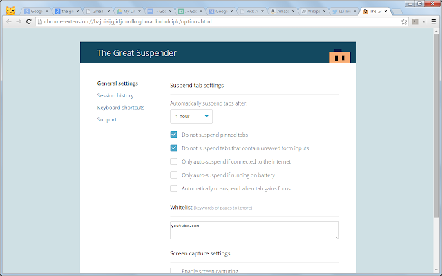 The Great Suspender Screenshot