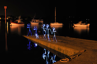 Photo: Waiting for the fisherman - Light painting by Christopher Hibbert, french photographer and light painter. Further information: http://www.christopher-hibbert.com