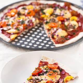 3 Ingredient Gluten Free Pizza Crust.