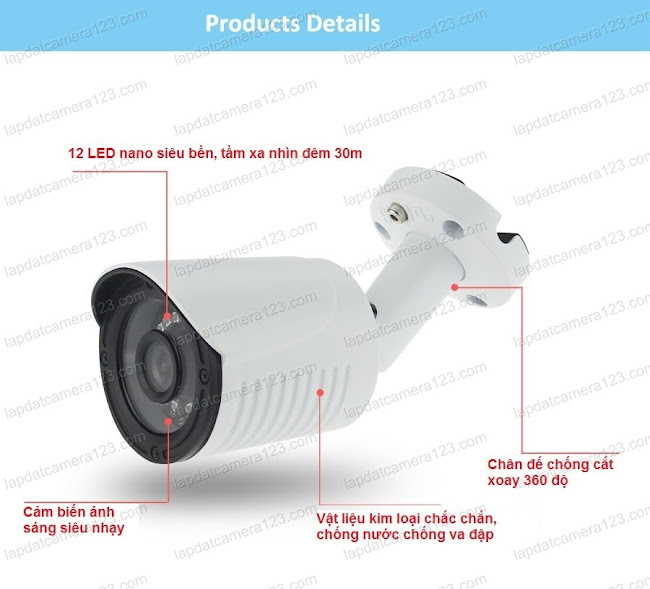 Chi tiết camera thân 4in1 camera viper 4in1 b206 - 2m
