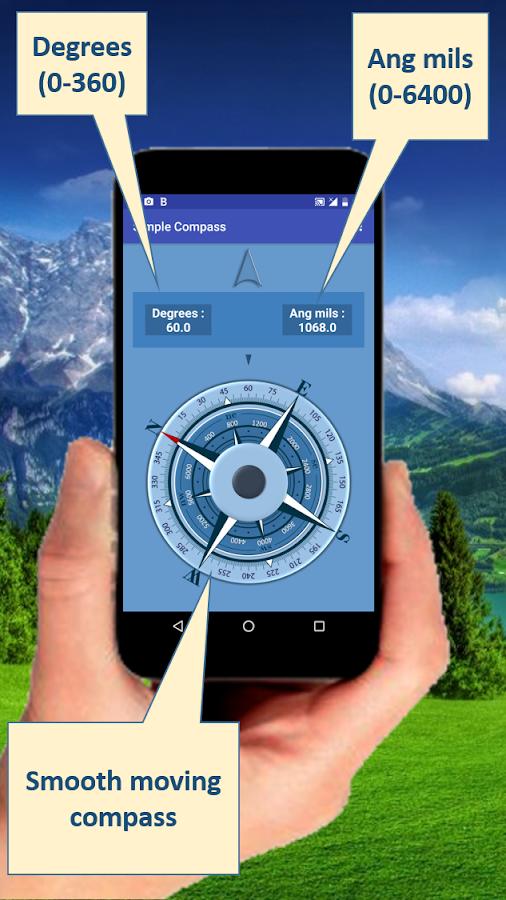 Simple Compass - στιγμιότυπο οθόνης