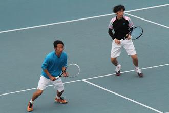 Photo: 永井(2年)・米田(1年)組は予選を突破し見事本戦出場。