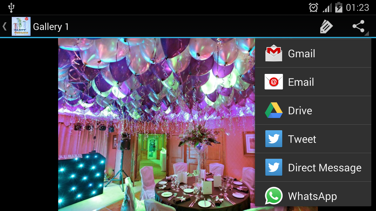 Gmail theme gallery - Party Themes Screenshot