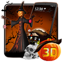 3D Halloween Pumpkin Night Theme icon
