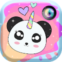 Panda Unicorn Kawaii Photo Stickers icon