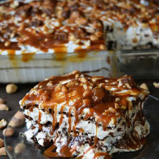 Snickers Ice Cream Sandwich Cake Recipe