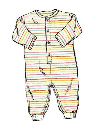Babykläder Kwik Sew 2433