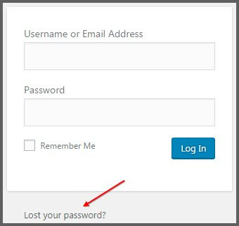 Lupa password wordpress admin