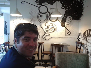 Photo: Back at the super cool, funky cafe where we got our bikes. I loved this place.