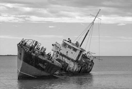 File photo of a sinking fishing boat.