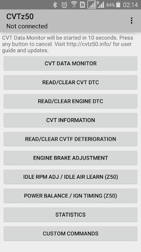 CVTz50 screenshot