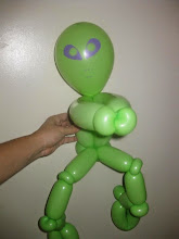 Photo: Alien balloon character by Maria, Chino 888-750-7024http://www.memorableevententertainment.com/FacePainting/MariaChino,Ca.aspx