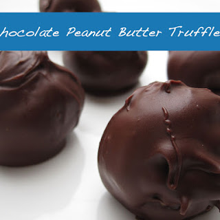 Chocolate Peanut Butter Truffles - (No Bake)