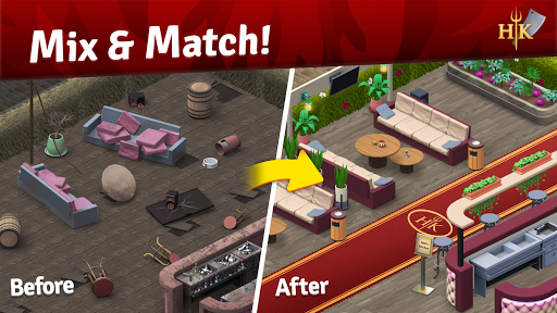 Hell's Kitchen: Match & Design apktreat screenshots 2