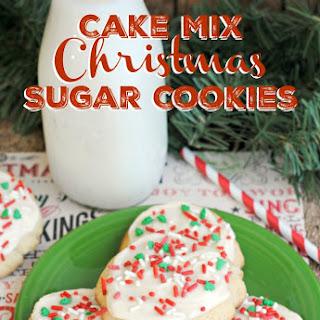 Cake Mix Christmas Sugar Cookies