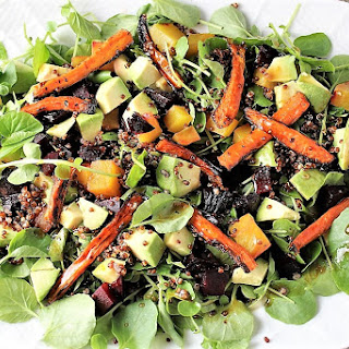 Red Quinoa Salad with Roasted Carrots and Beets Recipe