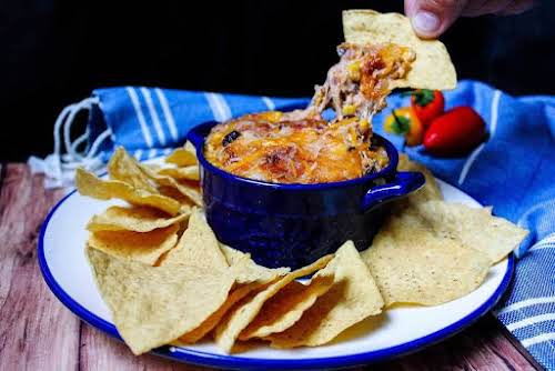"Southwest Chipotle Chicken Dip ""Wow, this chipotle chicken dip is gooey, cheesy..."