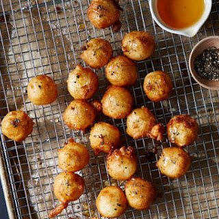 Fried Goat Cheese with Honey and Black Pepper