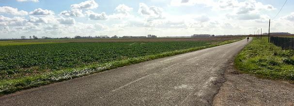 Photo: Paysage vers Saint-Aubin dans le Jura. Vuos pensiez que le Jura était un département uniquement montagneux? Erreur : ce coin du département est plat comme une crêpe!
