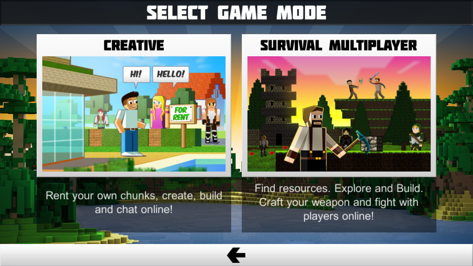 Screenshots of Planet of Cubes Survival Games for iPhone